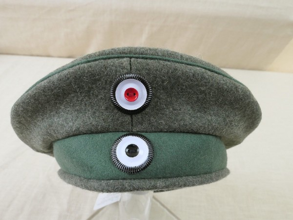 WK1 Preussen Einheits Feldmütze M1917 Krätzchen Gr.57 Robert Lubstein Jäger
