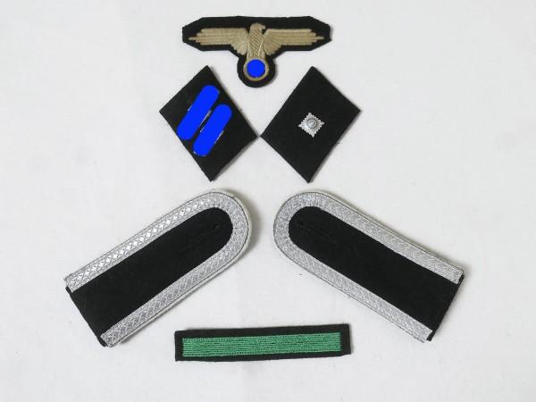 Satz Effekten Abzeichen Waffen Elite Schulterklappen Ärmeladler Kragenspiegel für Unterscharfü