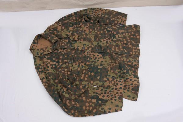 M44 Erbsentarn Feldbluse Tarnjacke Viertaschenrock mit Kammerstempel Gr.56
