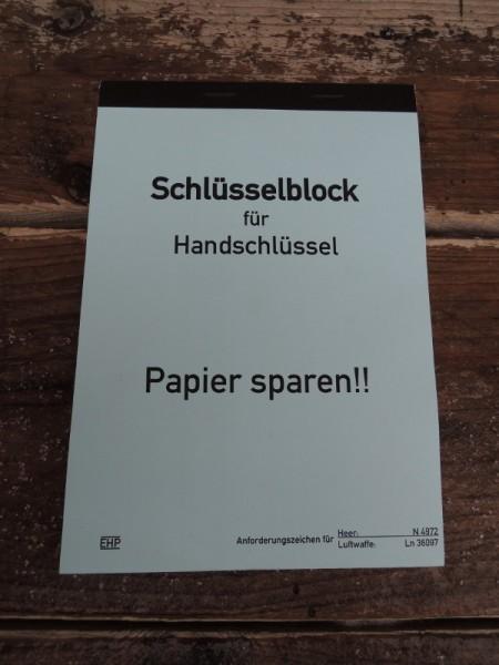 Schlüsselblock Block Wehrmacht