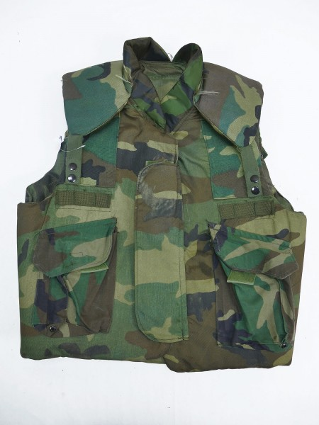 Armor Body Fragmentation Protective Flak Vest Woodland Medium