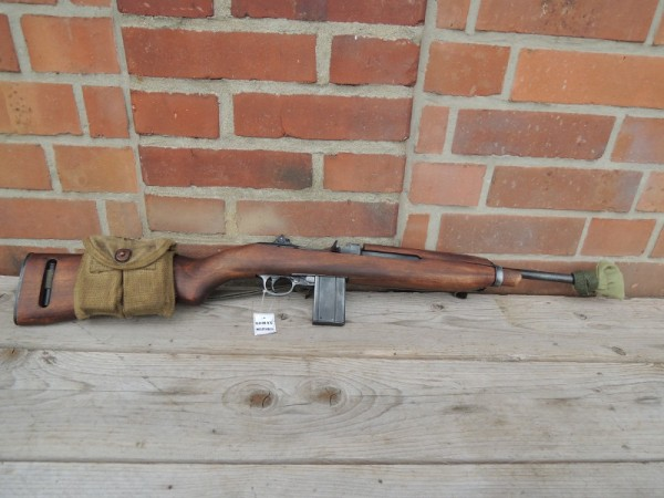 US Army M1 Carbine antik Deko Modell Filmwaffe mit Magazin Muzzle Cover Magazintasche