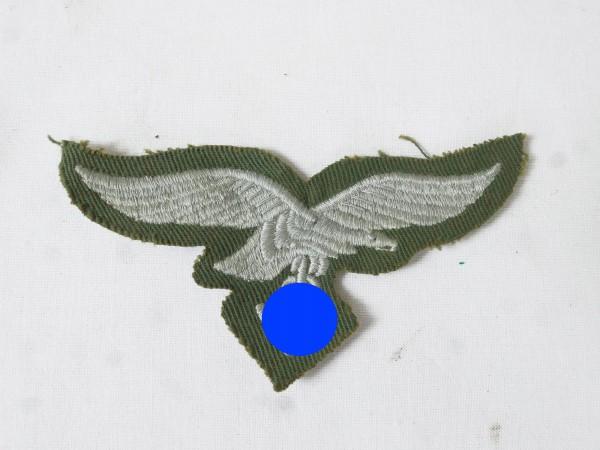 Brustadler grün Luftwaffe Knochensack Schleiferanzug gestickt Springeranzug Kreta