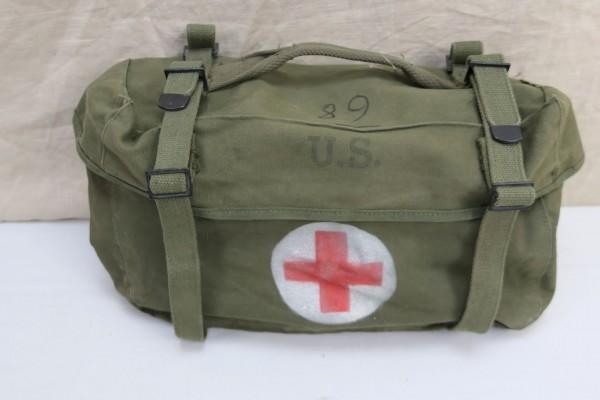 US Pack Field Cargo M-1945 Medic Willys Jeep Tasche Sanitäter Red Cross Rotkreuz - Einzelstück