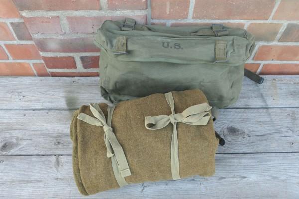 Original US Gepäck - Kampftasche Pack Field Cargo M-1945 mit WW2 US Schlafsack 1944 Wolle #3
