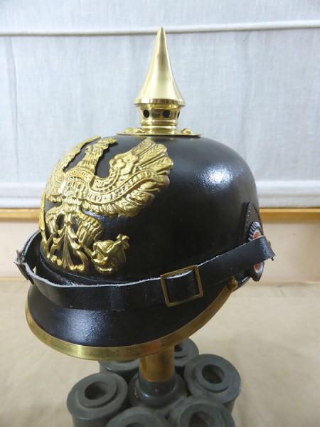 WK1 Helm Pickelhaube Preußen Mannschaften Spiked Helmet Prussian