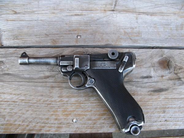 Pistole P08 antik Deko Modell Filmwaffe