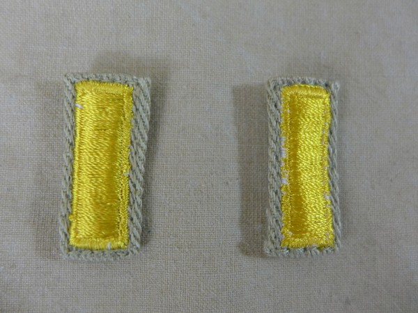 US ARMY WW2 Ranks 2nd Lieutenant Officer Rank badges Leutnant Offizier Abzeichen