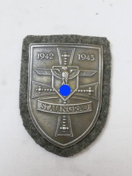 Wehrmacht Feldbluse Ärmelschild Stalingrad 1942 1943 Stalingradschild Feldbluse F.A.D.