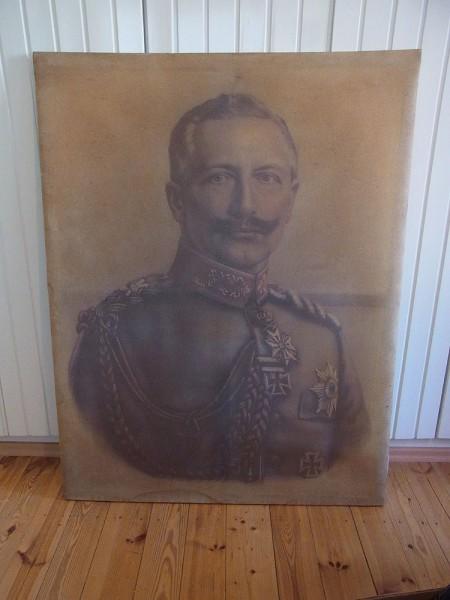Bild Kaiser Wilhelm II auf Leinwand 145 x 110cm