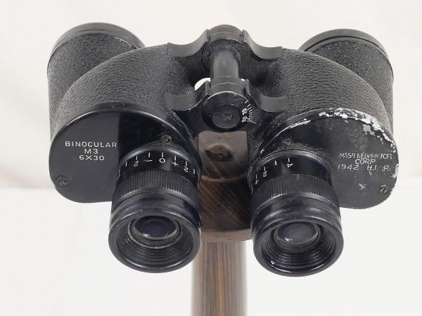 Original US Army WW2 M3 Binocular 6x30 Nash Kelvinator Corp 1942 H.M.R