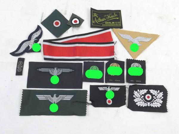 Wehrmacht Effekten Abzeichen Konvolut Adler Kokarde Etiketten
