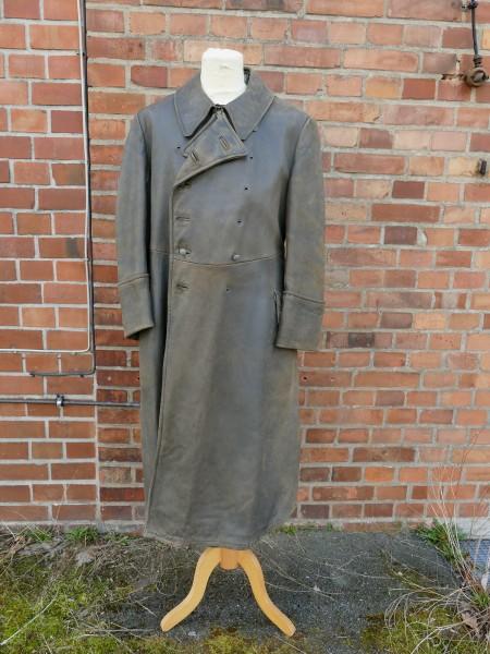 Vintage Wehrmacht Offiziers Mantel Ledermantel Gr.50/52
