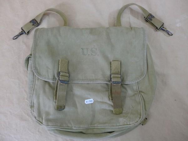 Original US Army WW2 M-1936 Musette Bag Kampftasche, datiert 1941, Filmrequisite