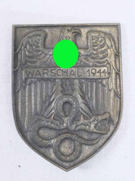 Ärmelschild Warschau 1944 auf Tuch / Ärmelwappen / Abzeichen