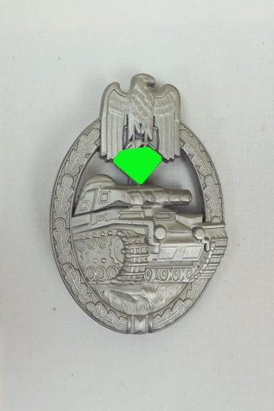 Panzerkampfabzeichen in Silber Massiv Stufe Silber Hersteller AS