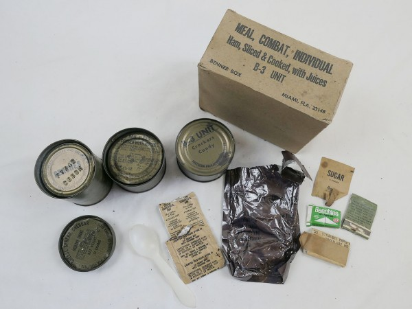 US Army Ham, Sliced & Cooked, with Juices Meal Combat Individual MRE C-ration