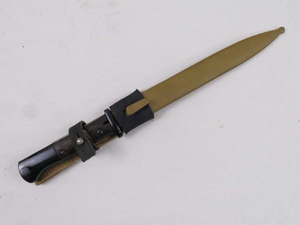 Wehrmacht DAK Südfront Afrika Korps Bajonett K98 / Seitengewehr mit Koppelschuh 1943 ffc - Reprodukt