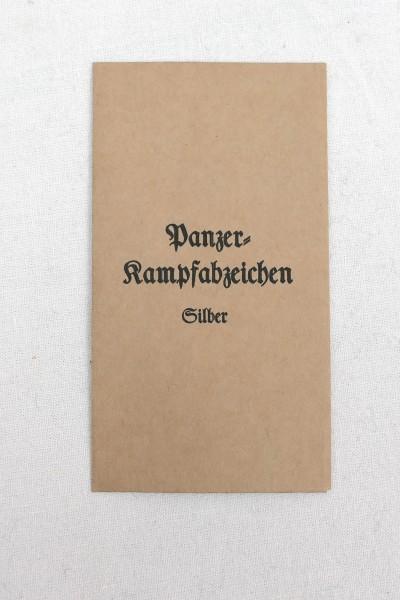 Verleihungstüte für Orden - Panzerkampfabzeichen in Silber