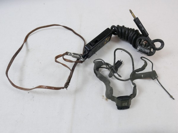 WWII US ARMY Signal Corps T-45 Aircraft Radio Microphone Funk Mikrofon MC-419