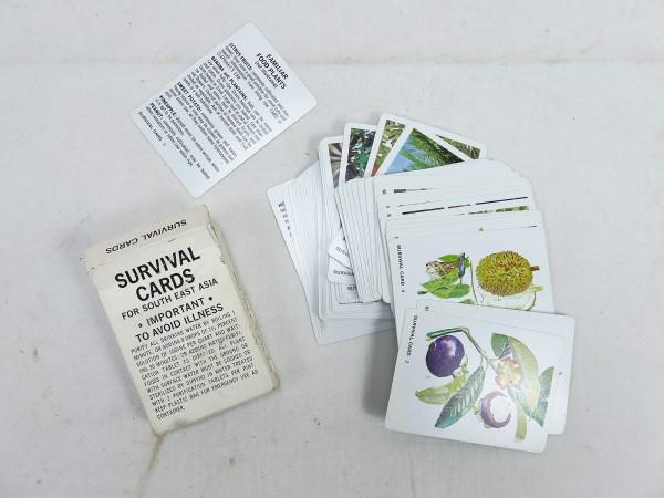 U.S. Army Original Survival cards set 1968 Satz Karten Flora & Fauna South East Asia