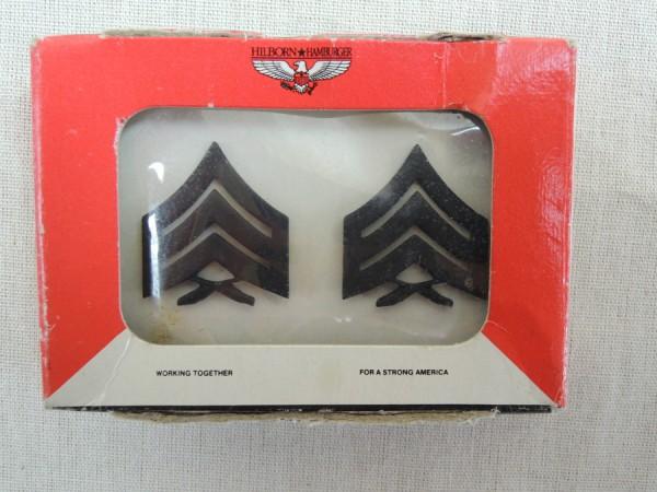 US Army Metalldienstgradabzeichen US Marines Seargant