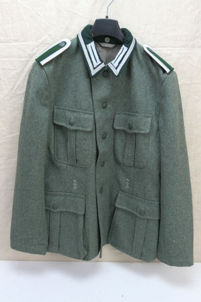 Gr.48 Wehrmacht Feldbluse M36 Uniform mit Litze + Kragenspiegeln + Schulterklappen