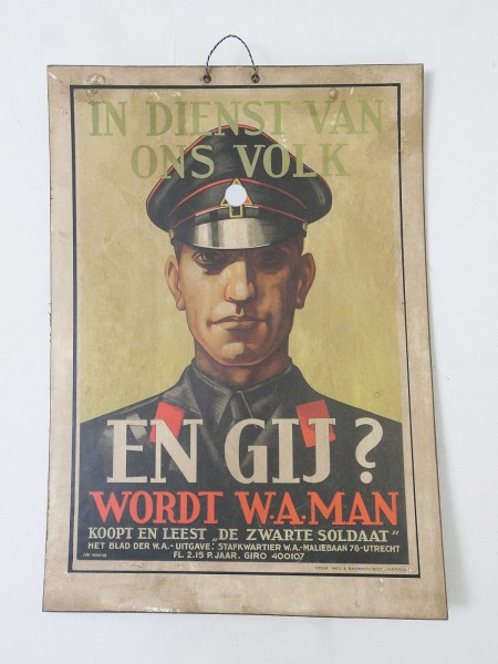 Wehrmacht Elite Niederlande Der Schwarze Soldat Vintage Poster Schild Werbe Plakat Karton