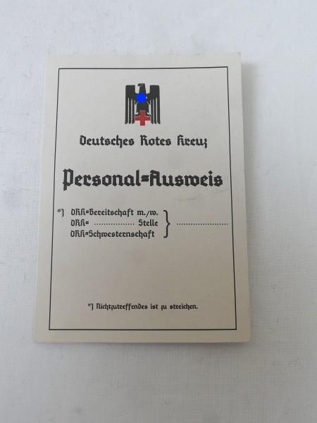 Wehrmacht DRK Deutsches Rotes Kreuz Personal Ausweis blanko