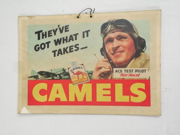 Bild Plakat Poster US Cigarettes Zigaretten Werbung US Pilot