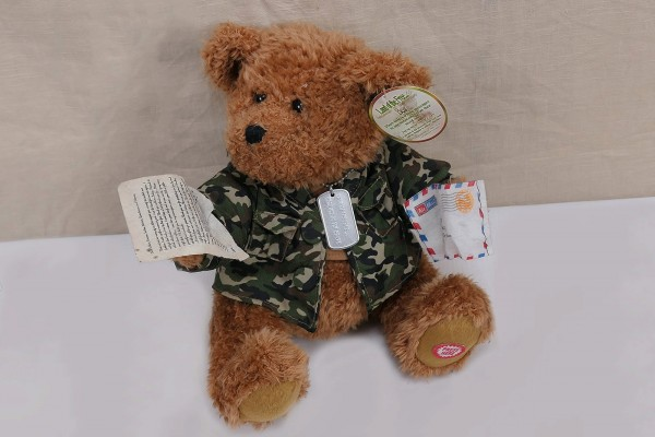 Sprechender US Teddy Bear Soldat - Land of the Free Because of the Brave Soldier Teddy Bear