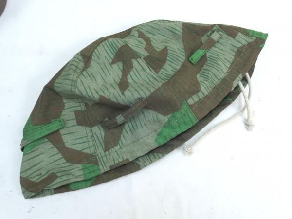 WW2 Wehrmacht Helmbezug Splittertarn BML 1943 Helmtarnbezug bis Glocke Gr.66 #5