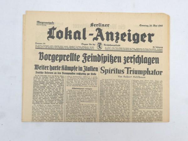 WK2 Vollständige Tageszeitung - Berliner Lokal-Anzeiger 28.Mai 1944 - Morgenausgabe