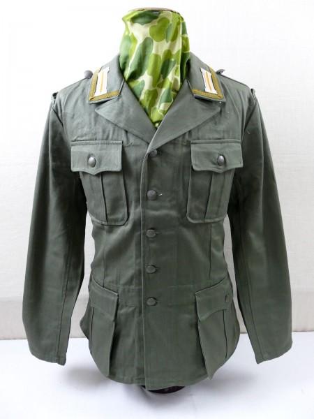 DAK Afrikakorps Feldbluse Tropenjacke M40 Heer Unteroffizier mit Litze und Kragenspiegeln