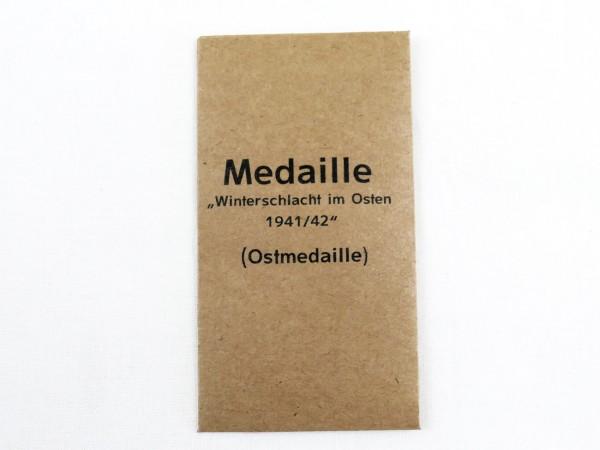 Verleihungstüte Medaille Winterschlacht im Osten 1941/42 / Ostmedaille (418)