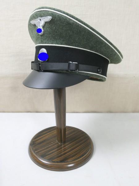 Waffen Elite Tornister Schirmmütze Gr. 58 mit Effekten Mützenadler + Totenkopf Crusher Cap