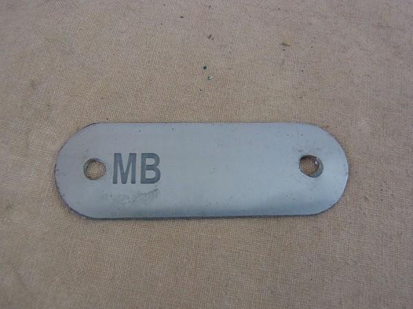 Plate Frame 41/43 Willys MB US Schild für Identifikationsnummer