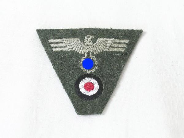 Wehrmacht Heer Trapez Mützenabzeichen M40 gestickt Mützenadler Feldmütze