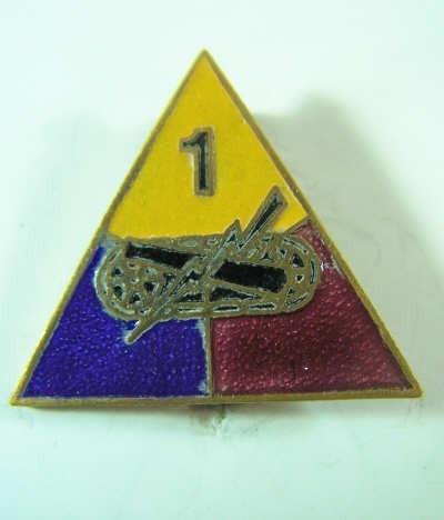 US Army 1st Armd Div. Unit Crest