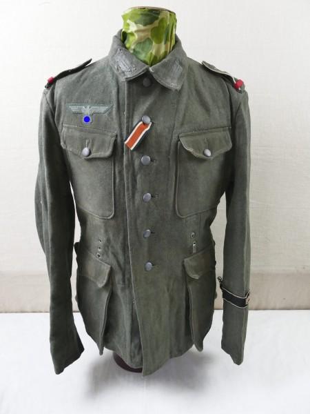 Wehrmacht Feldbluse M42 Uniform FRUNDSBERG aus Ausstellung Museum