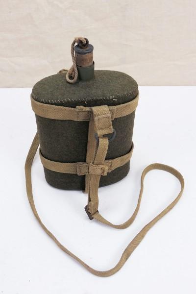 Original WW2 GB Feldflasche Wasserflasche Webbing Beriemung British Army 1944