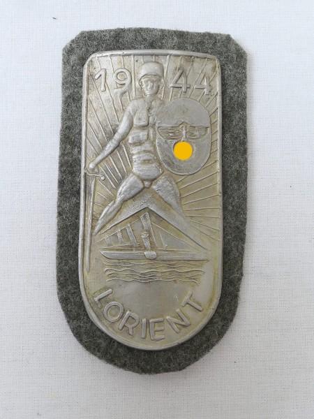 Wehrmacht Ärmelschild Lorient 1944 Lorientschild Feldbluse