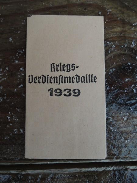 """Verpackung für Orden """"Kriegsverdienstmedaille 1939"""""""