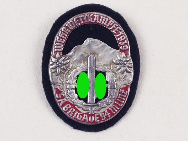 Ärmelabzeichen Wehrwettkämpfe 1939 Brigade 94