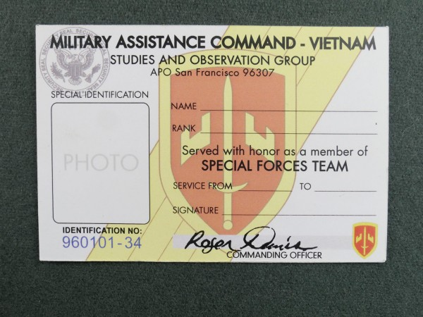 US ARMY Special Identification and Pass / Legitimations Karte Pass Vietnam