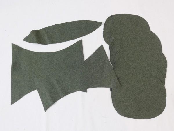 WH Wollstoff Abschnitte Stoff Wolltuch zum Vernähen Flicken für Mützen Abzeichen Ärmelschilder #2