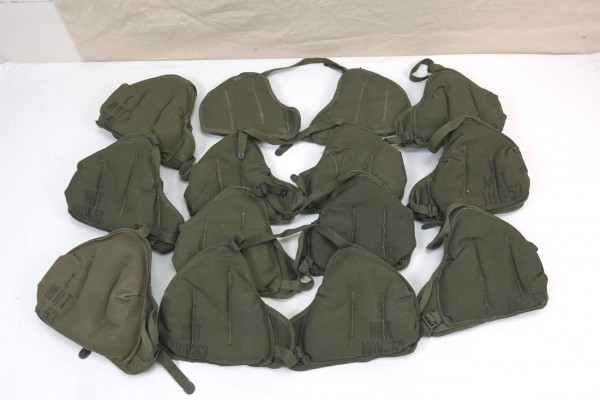 TYP WWII US Army Shoulder Pad Schulterpolster M3 Mortar 60mm M2 Werfer 1x Paar