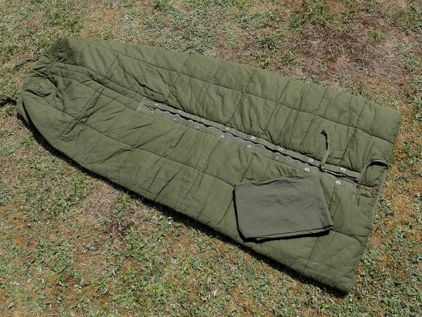 Vintage US Army Vietnam Schlafsack M58 + Nylon Hülle / sleeping bag + cover TYP4