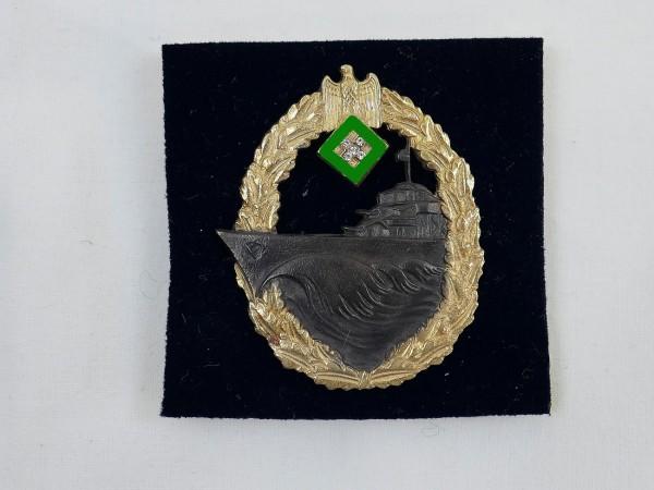 Kriegsmarine Zerstörer Abzeichen mit Brillantimitationen