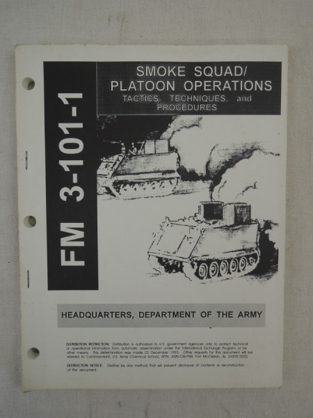 US Army FM 3-101-1 Smoke Squad / Platoon Operations